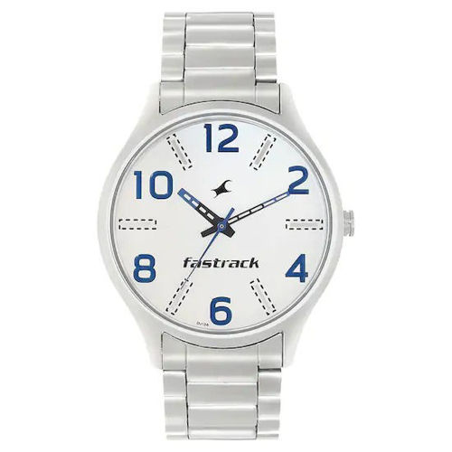 Fastrack WHITE DIAL SILVER STAINLESS STEEL STRAP WATCH - 3184SM02 price in india features reviews specs