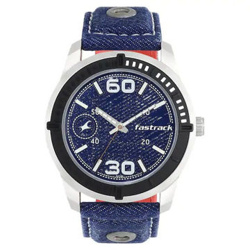Fastrack BLUE DIAL BLUE DENIM STRAP WATCH - 3189KL02 price in india features reviews specs