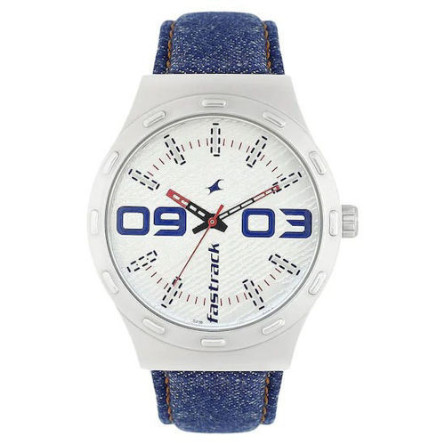 Fastrack WHITE DIAL BLUE DENIM STRAP WATCH - 3183SL01 price in india features reviews specs