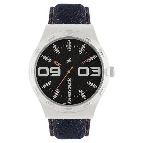 Fastrack BLACK DIAL BLUE DENIM STRAP WATCH - 3183SL02 price in india features reviews specs
