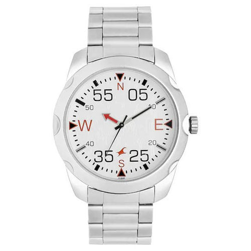 Fastrack ROAD TRIP WHITE DIAL LEATHER STRAP WATCH - 3123SM05 price in india features reviews specs