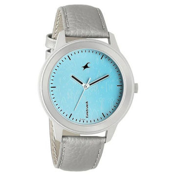 Fastrack ROAD TRIP BLUE DIAL LEATHER STRAP WATCH - 6190SL01 price in india features reviews specs