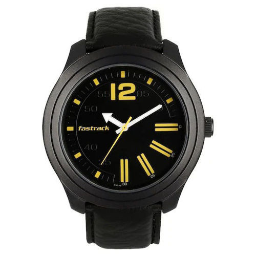 Fastrack ROAD TRIP BLACK DIAL LEATHER STRAP WATCH - 3198AL01 price in india features reviews specs