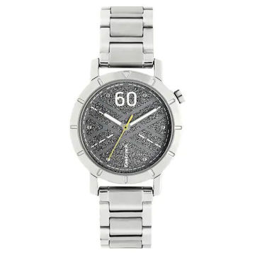 Fastrack ROAD TRIP PRINTED GREY DIAL STAINLESS STEEL STRAP WATCH 6112SM03 price in india features reviews specs