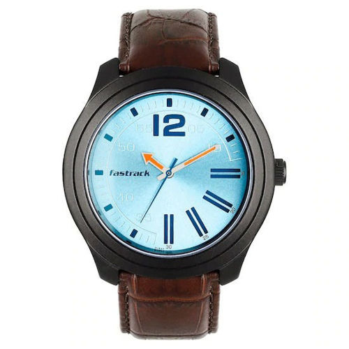 Fastrack ROAD TRIP BLUE DIAL LEATHER STRAP WATCH - 3198AL02 price in india features reviews specs