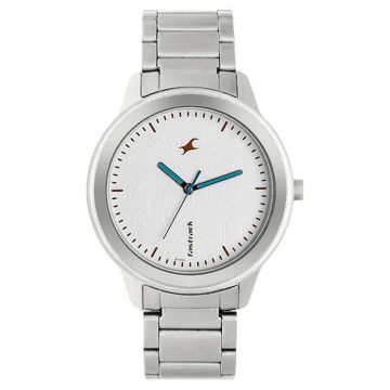 Fastrack ROAD TRIP WHITE DIAL STAINLESS STEEL STRAP WATCH 6190SM01 price in india features reviews specs