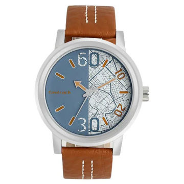 Fastrack ROAD TRIP BLUE DIAL LEATHER STRAP WATCH - 3199SL01 price in india features reviews specs