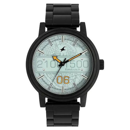 Fastrack ROAD TRIP BLUE DIAL STAINLESS STEEL STRAP WATCH - 3199NM02 price in india features reviews specs
