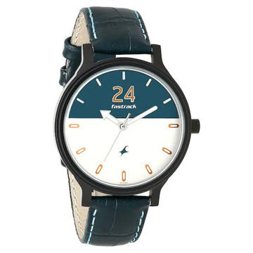 Fastrack ROAD TRIP BI-COLOUR DIAL LEATHER STRAP WATCH 6189NL01 price in india features reviews specs