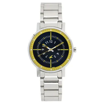 Fastrack VARSITY GREEN DIAL STAINLESS STEEL STRAP WATCH - 6172SM01 price in india features reviews specs
