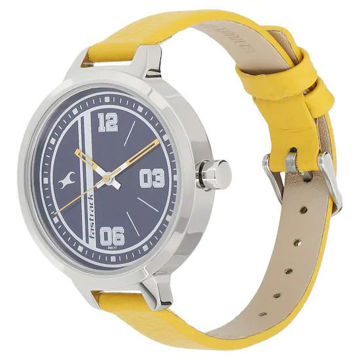 Fastrack VARSITY BLUE DIAL LEATHER STRAP WATCH - 6174SL01 price in india features reviews specs