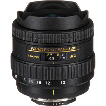 buy Tokina 10-17mm f/3.5-4.5 AT-X 107 DX AF Fisheye Lens for Nikon F in India imastudent.com