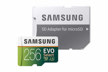 Samsung EVO Select 256GB 100MB/s (U3) MicroSDXC Memory Card with Full-Size Adapter