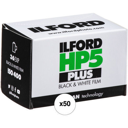 buy Ilford HP5 Plus Black and White Negative Film (35mm Roll Film, 36 Exposures, 50 Pack) in India imastudent.com