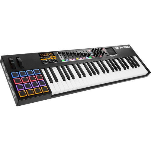 buy M-Audio Code 49 49-Key USB/MIDI Keyboard Controller with X/Y Touch Pad (Black) in India imastudent.com