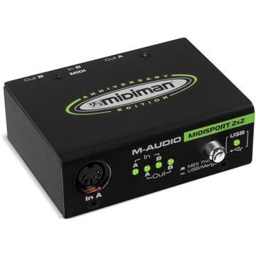 buy M-Audio MIDISPORT 2x2 USB Bus-Powered MIDI Interface in India imastudent.com