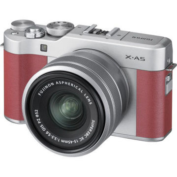 buy FUJIFILM X-A5 Mirrorless Camera with 15-45mm Lens (Pink) in India imastudent.com
