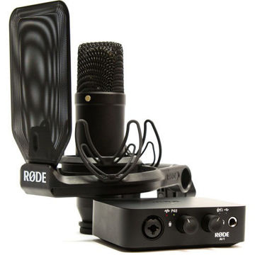 Rode Complete Studio Kit with AI-1 Audio Interface, NT1 Microphone, SMR Shockmount, and Cables price in india features reviews specs
