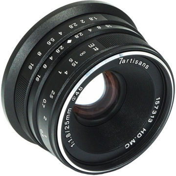 7artisans Photoelectric 25mm f/1.8 Lens for Fujifilm X (Black) price in india features reviews specs