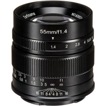 7artisans Photoelectric 55mm f/1.4 Lens for Sony E (Black) price in india features reviews specs