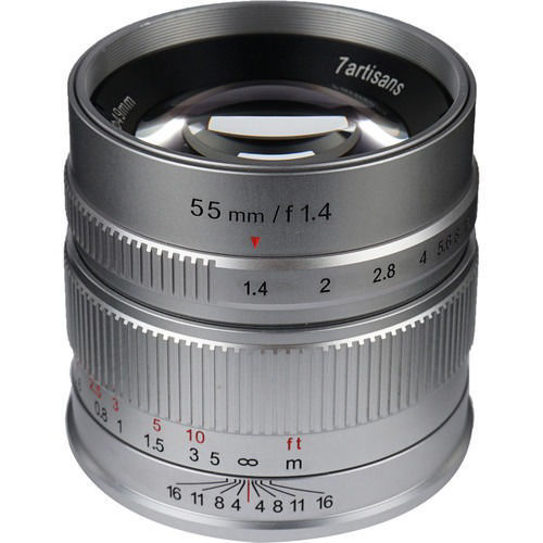 7artisans Photoelectric 55mm f/1.4 Lens for Fujifilm X (Silver) price in india features reviews specs