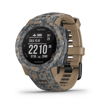 Garmin Instinct – Tactical Edition (Tactical Camo – Coyote Tan) price in india features reviews specs