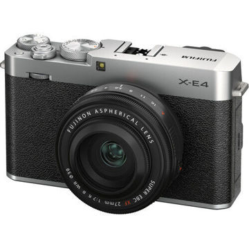FUJIFILM X-E4 Mirrorless Digital Camera with XF 27mm f/2.8 R WR Lens (Silver) price in india features reviews specs