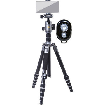 Vanguard VEO 3 GO 265HAB Aluminum Tripod/Monopod with BH-120 Ball Head, Smartphone Connector, and Bluetooth Remote price in india features reviews specs