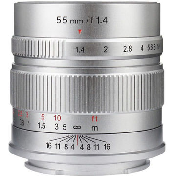 7artisans Photoelectric 55mm f/1.4 Lens for Micro Four Thirds (Silver) in india features reviews specs