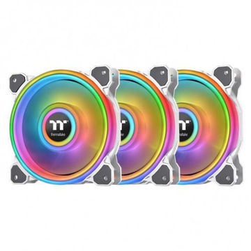 Thermaltake Riing Quad 12 RGB Radiator Fan TT Premium Edition 3 Fan Pack (White) - CL-F100-PL12SW-A price in india features reviews specs