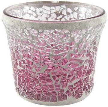buy Pink Fade Crackle Votive Holder in India imastudent.com