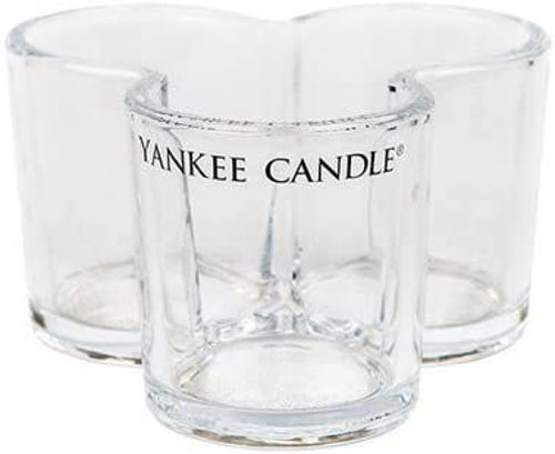 buy YC TRIPLE VOTIVE HOLDER CLEAR GLASS in India imastudent.com