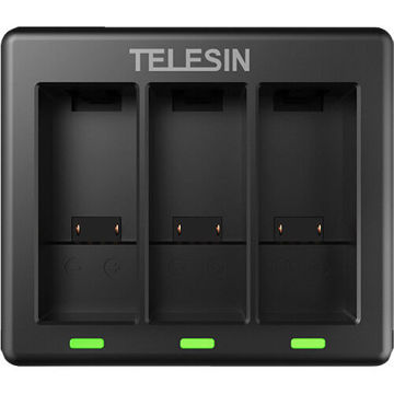 TELESIN 3-Channel Battery Charger for GoPro HERO9 in india features reviews specs
