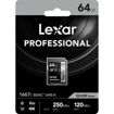 Lexar 64GB Professional 1667x UHS-II SDXC Memory Card in india features reviews specs
