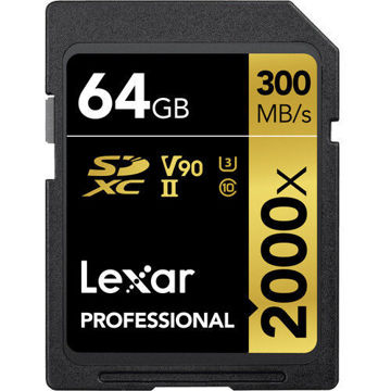 Lexar 64GB Professional 2000x UHS-II SDXC Memory Card in india features reviews specs