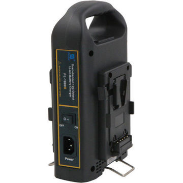 Fxlion PL1680B Dual-Channel V-Mount Battery Charger with DC Output in india features reviews specs